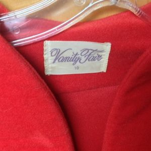 Red velour robe size 10
